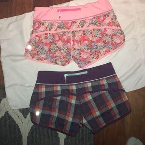 Lululemon size 4 shorts.